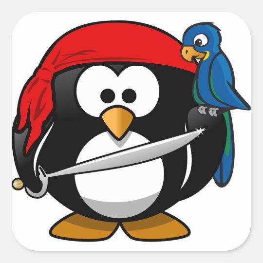 Pirate Penguin Square Sticker