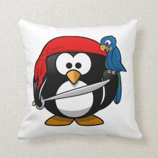 Pirate Penguin Throw Pillow