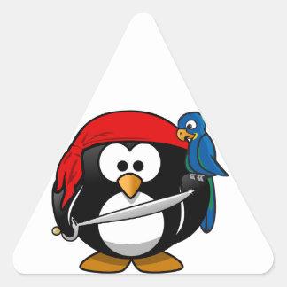 Pirate Penguin Triangle Sticker