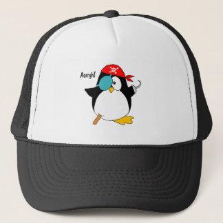 Pirate Penguin Trucker Hat