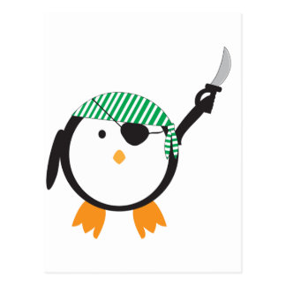 Pirate Penguin With Sword Postcard