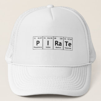 PIRaTe Periodic Table Elements Word Chemistry Atom Trucker Hat