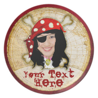 Pirate photo plate for girls