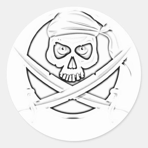 pirate.photocopy pegatina redonda