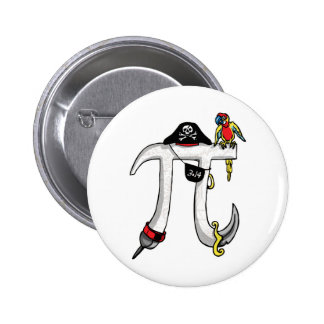 Pirate Pi Day Gear Pinback Button