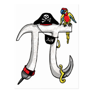 Pirate Pi Day Gear Postcard