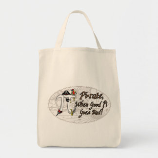 Pirate Pi Day Oval Tote Bags