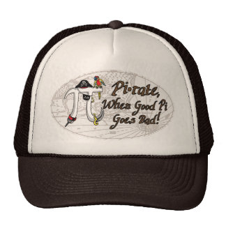 Pirate Pi Day Oval Trucker Hat