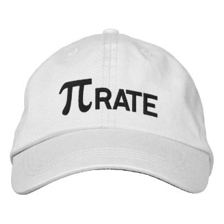 Pirate pi geek humor embroidered hat