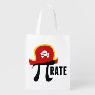 Pirate Pi Pun Reusable Grocery Bag