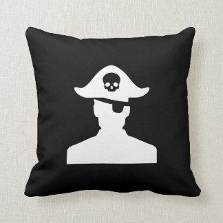 Pirate Pictogram Throw Pillow