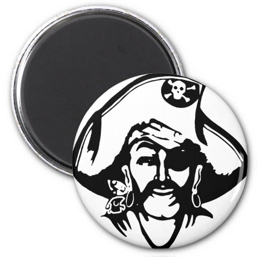 Pirate Pirates 2 Inch Round Magnet
