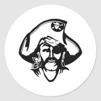 Pirate Pirates Classic Round Sticker