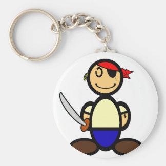 Pirate (plain) basic round button keychain