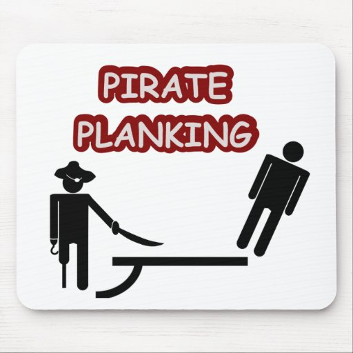 Pirate Planking Mouse Pads