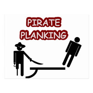 Pirate Planking Postcard