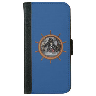 Pirate plundering the seas. iPhone 6/6s wallet case