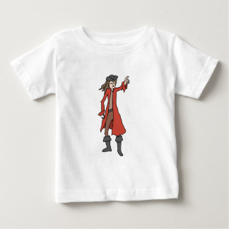 Pirate, pointing into the distance. baby T-Shirt
