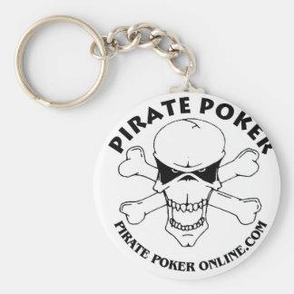 pirate poker basic round button keychain