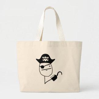 Pirate poker face - meme bags