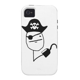 Pirate poker face - meme iPhone 4/4S covers