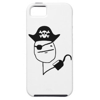 Pirate poker face - meme iPhone 5 covers