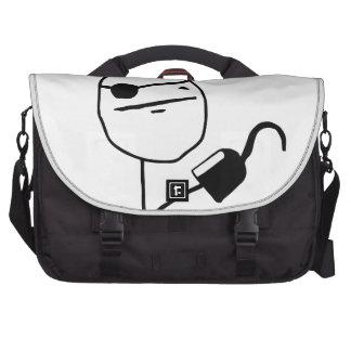 Pirate poker face - meme laptop commuter bag