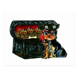 Pirate  Poo Postcard