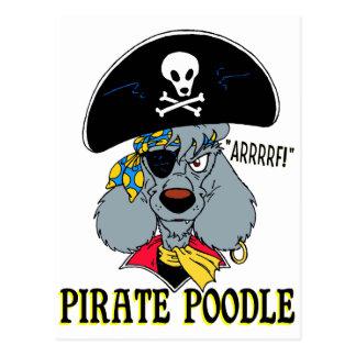 Pirate Poodle Postcard
