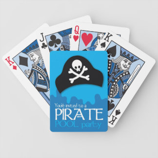 Pirate pool party invitation bicycle playing cards
