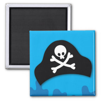 Pirate pool party invitation magnet