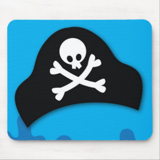 Pirate pool party invitation mouse pad