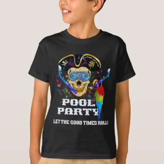 Pirate Pool Party Kids IMPORTANT Read About Design T-Shirt