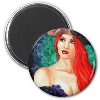 Pirate Portrait 2 Inch Round Magnet