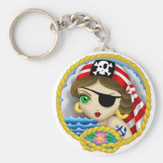 Pirate Portrait Key Chain