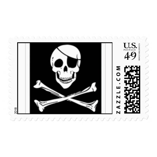 pirate post postage stamps