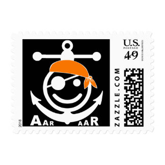 pirate postage stamp