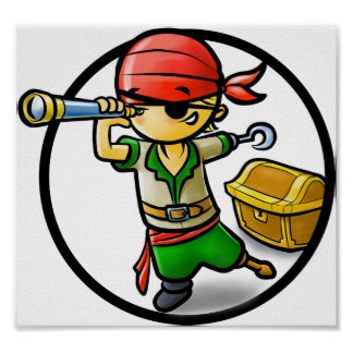 Pirate poster for kids