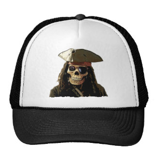 Pirate Posterized skull face Mesh Hat