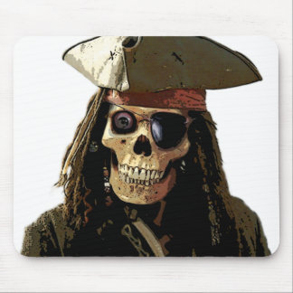 Pirate Posterized skull face Mouse Pad