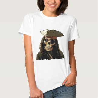Pirate Posterized skull face Shirt