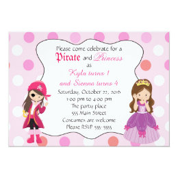 Princess pirate party invitations announcements zazzle pirate princess girl birthday party invitation filmwisefo Choice Image