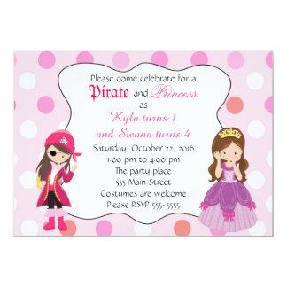 Pirate Princess Girl Birthday Party Invitation