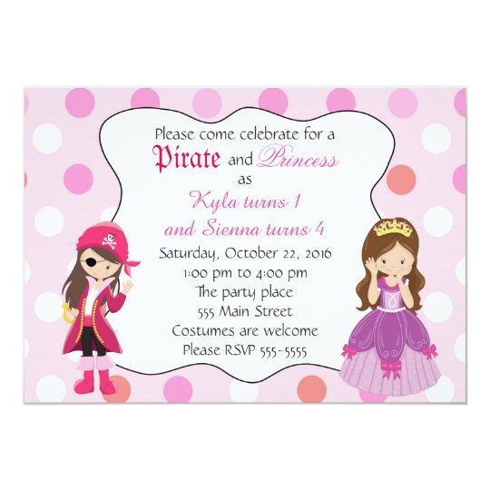 Pirate princess girl birthday party invitation zazzle pirate princess girl birthday party invitation filmwisefo
