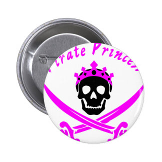Pirate Princess Pinback Button
