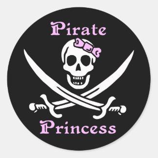 Pirate Princess sticker - sheet of 20