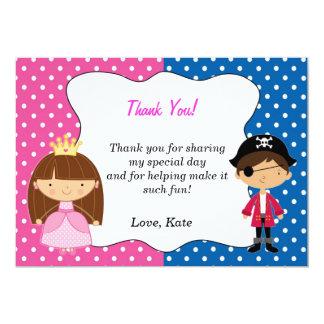 Pirate Princess Thank You Card - Girl
