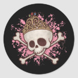 Pirate Princess -tiara Classic Round Sticker