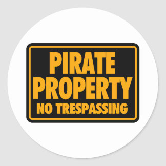 Pirate Property II Classic Round Sticker