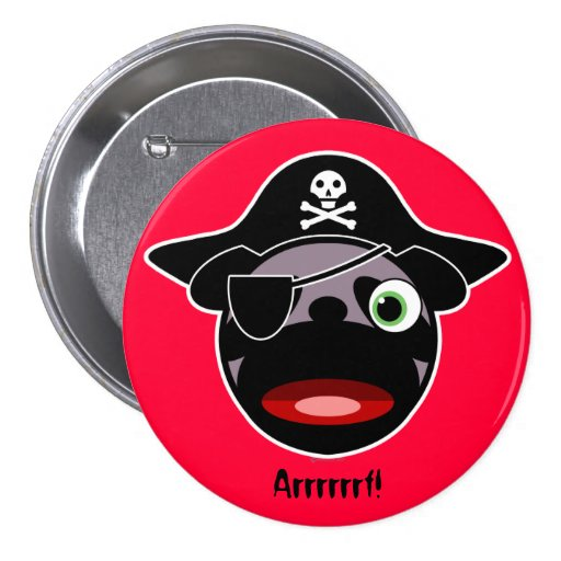 Pirate Pug Button